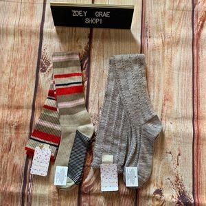 New! Free People Knee High Socks 2 pairs